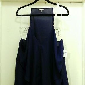 Navy blue sleeveless blouse
